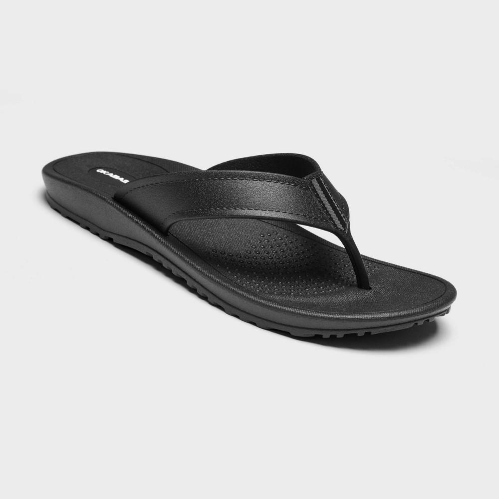 Image of Men's Mariner Sustainable Flip Flop Sandals - Okabashi Black L(8-8.5), Men's, Size: Large(8-8.5)