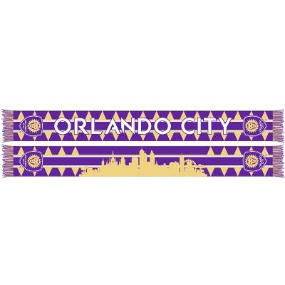 MLS Orlando City SC Purple Knit Skyline Scarf