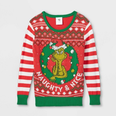 Kids' The Grinch Ugly Pullover Sweater - Red
