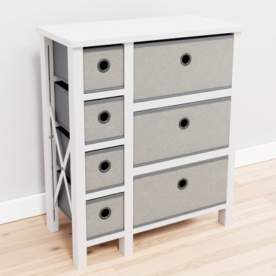 Seven Drawer Fabric Storage Chest - Brookside Home