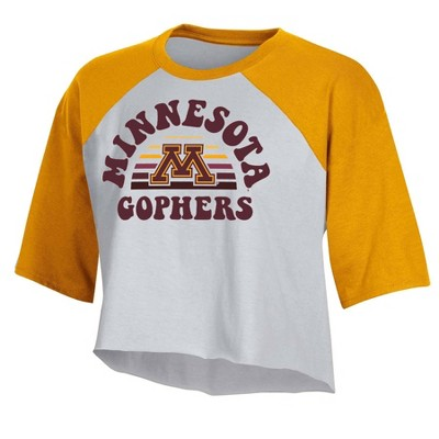 NCAA Minnesota Golden Gophers Women's Short Sleeve Cropped T-Shirt