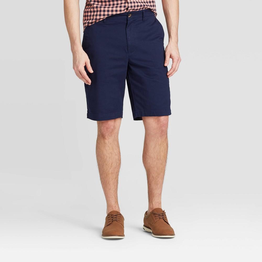 Men 39 S 10 5 34 Flat Front Shorts Goodfellow 38 Co 8482 Blue 42