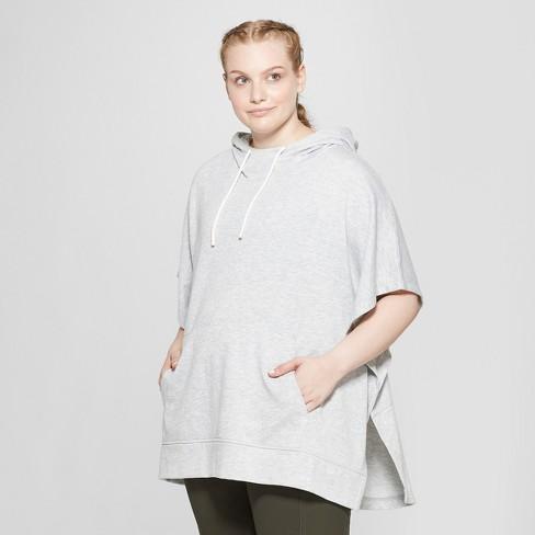 202584fd Women's Plus-Size Poncho - C9 Champion® Heather Grey 4X : Target