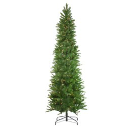 Northlight 7.5' Prelit Artificial Christmas Tree Pencil Northwood Noble Fir - Clear Lights