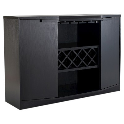 Rosio Transitional Criss Cross Wine Storage Dining Buffet Black - HOMES: Inside + Out