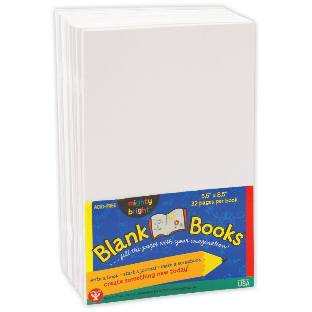 10pk 5 5 34 X 8 5 34 Blank Paperback Books White Hygloss