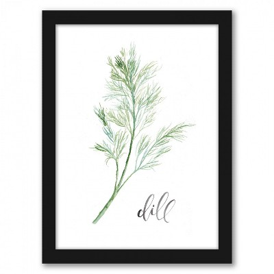 Americanflat Dill by Cami Monet Black Frame Wall Art