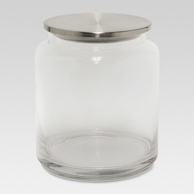 Glass/Brushed Canister Medium Silver - Threshold™