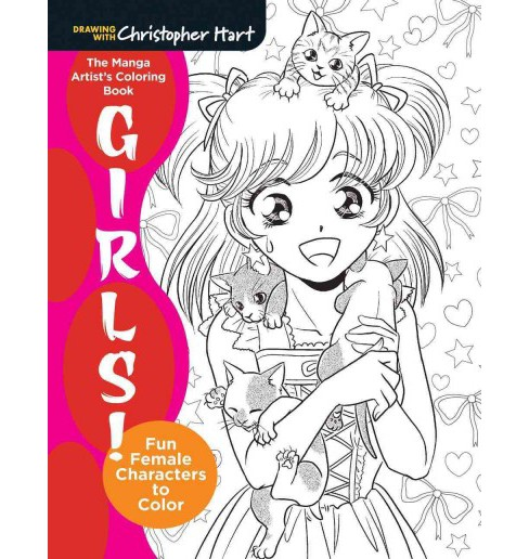 Manga Artist S Coloring Book Girls Fun Female Characters To