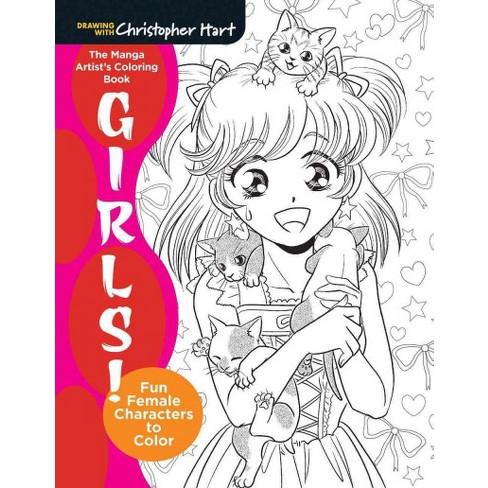 Manga Artist\'s Coloring Book : Girls!: Fun Female Characters To ...
