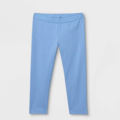 Girls' Capri Sparkle Leggings - Cat & Jack™ Sky Blue