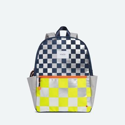 STATE Bags 15'' Kids' Metallic Backpack - Checkerboard