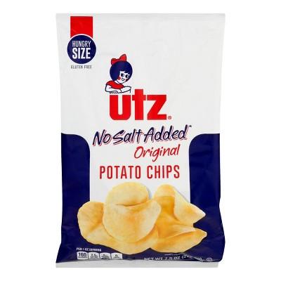 Potato Chips: Utz No Salt Added
