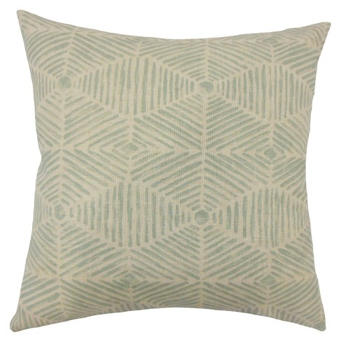 "Cream Print Square Throw Pillow (18""x18"") - The Pillow Collection - image 1 of 1"