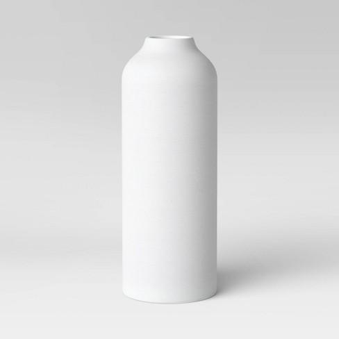 Textured Ceramic Vase White - Project 62™ - image 1 of 3