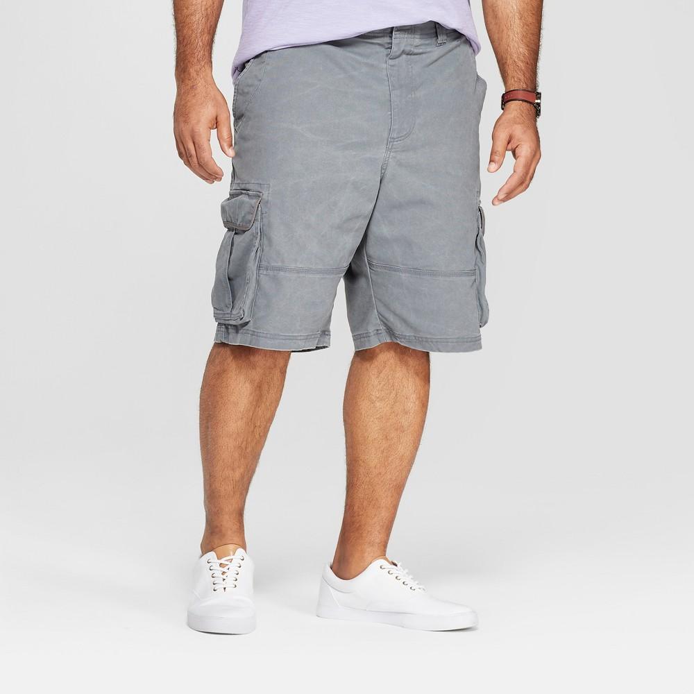 Men's Big & Tall 11 Cargo Shorts - Goodfellow & Co Gray 46