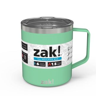 Zak! Designs 13oz Double Wall Stainless Steel Explorer Mug - Neo Mint