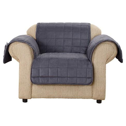 Admirable Velvet Non Skid Chair Slipcover Sure Fit Customarchery Wood Chair Design Ideas Customarcherynet
