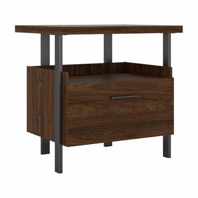 Architect 1 Drawer File Cabinet Modern Walnut - Bush Furniture