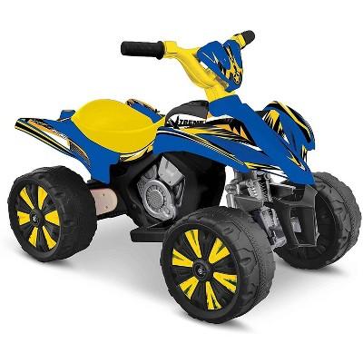 Kid Motorz 6V Xtreme Quad Powered Ride-On - Blue/Yellow