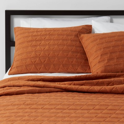 Full/Queen Triangle Stitched Jersey Quilt Bronze - Project 62™ + Nate Berkus™