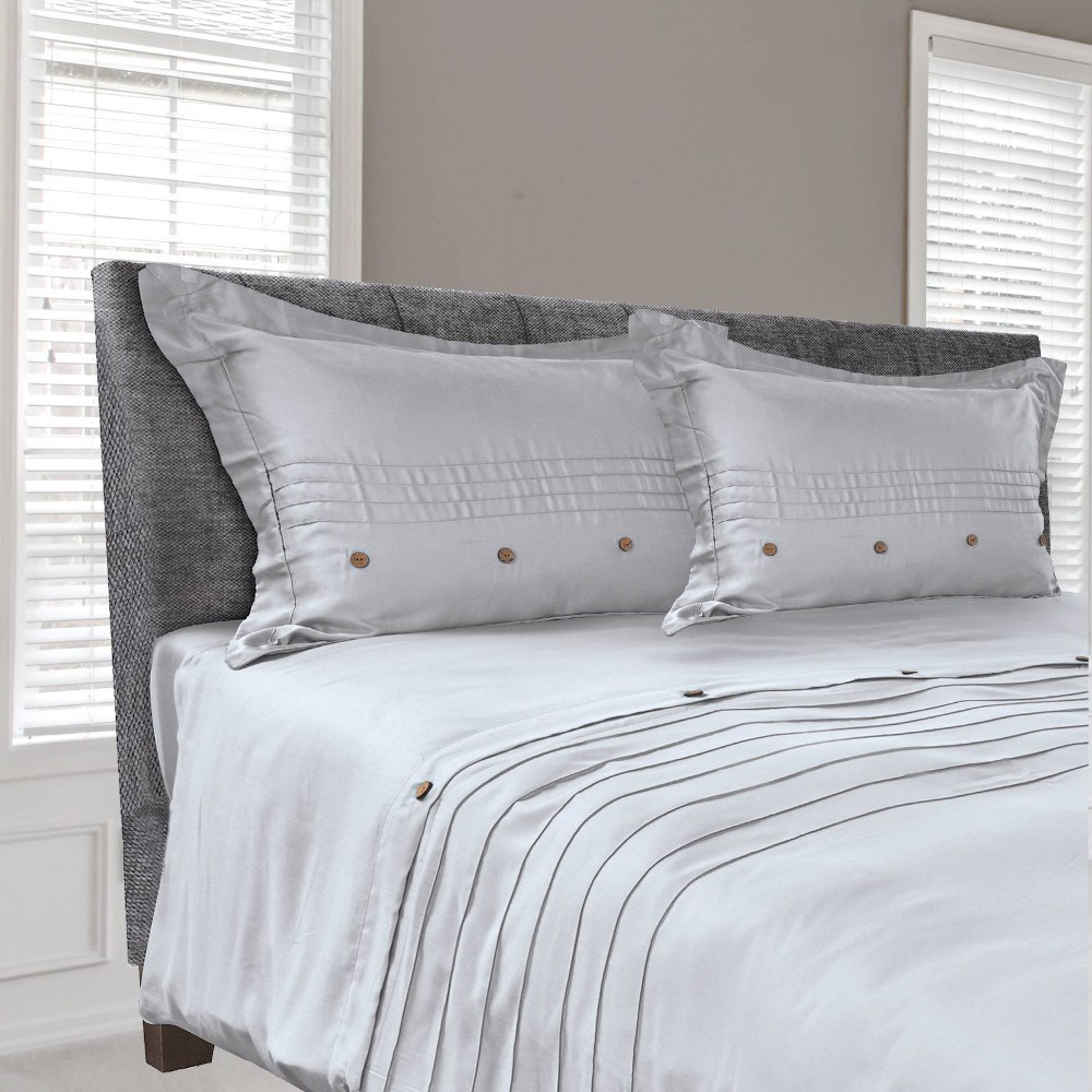 Image of Tempur-Pedic Cool Luxury Full/Queen Duvet Cover Silver Gray