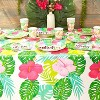 """Sparkle and Bash 3 Pack Floral Plastic Tablecloth Table Cover 54""""x108"""" for Hawaiian Luau Party Supplies - image 2 of 4"""