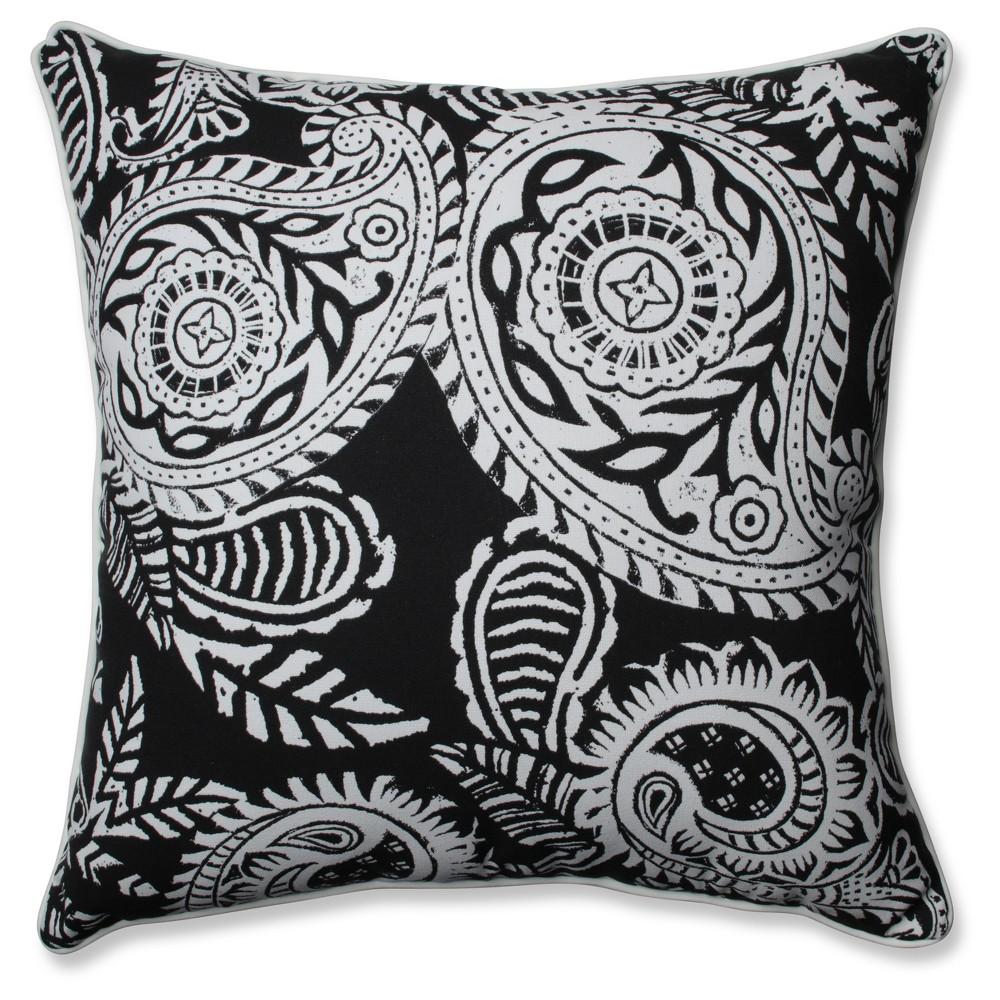Outdoor Indoor Addie Black Floor Pillow Pillow Perfect