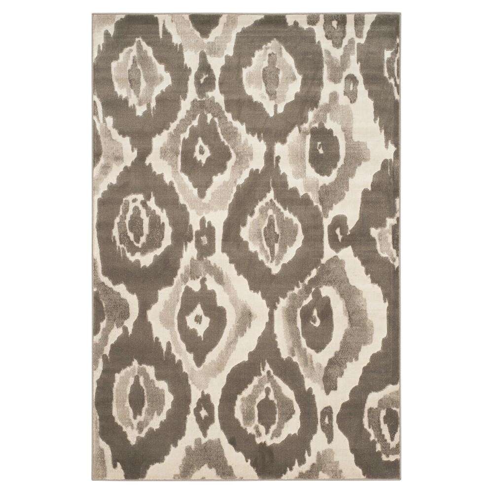 Sameh Area Rug - Ivory / Dark Gray ( 5' 2
