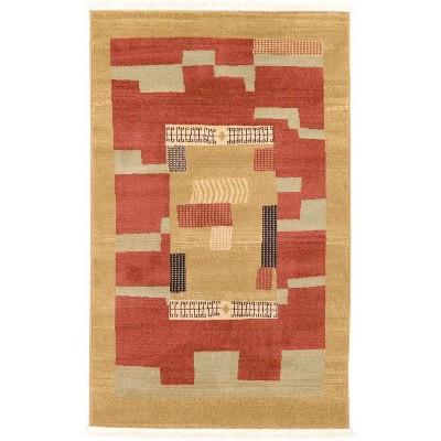 Jefferson Fars Rug Rust Red/Beige - Unique Loom