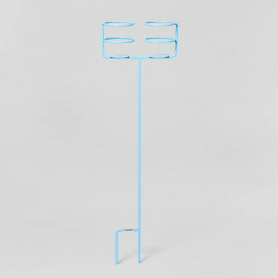 Double Beverage Holder Ground Stake - Blue - Sun Squad™