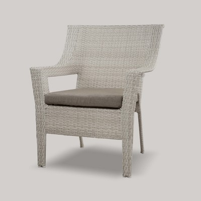 Southcrest Wicker Stacking Patio Club Chair Gray   Threshold™ : Target