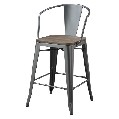Gregg Industrial Counter Height Chair - HOMES: Inside + Out
