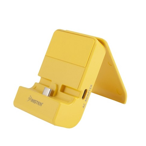 Insten for Nintendo Switch & Switch Lite Docking Station Adjustable Charging Stand with USB C Port, Yellow - image 1 of 4