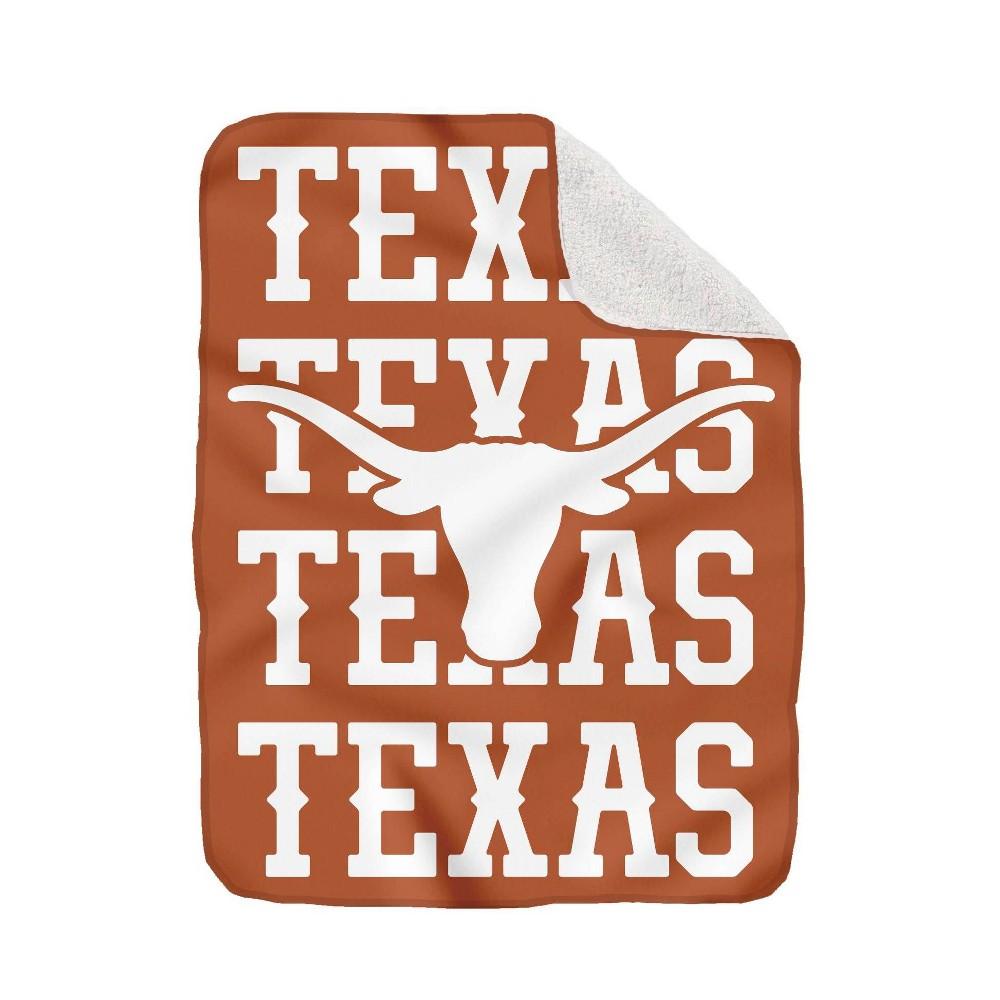 Ncaa Texas Longhorns Collegiate Echo Wordmark Plush Throw Blanket
