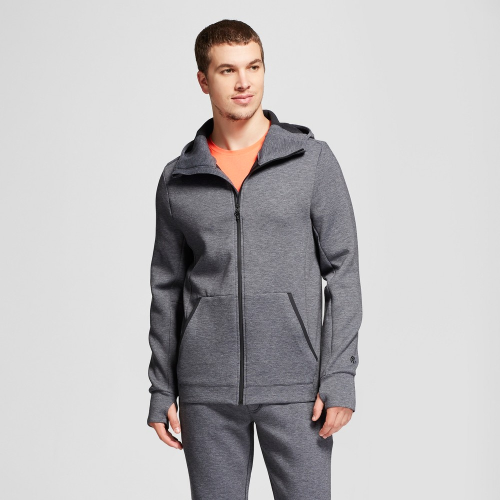 Image of Men's Victory Fleece Full Zip Sweatshirt - C9 Champion Black Heather S, Size: Small