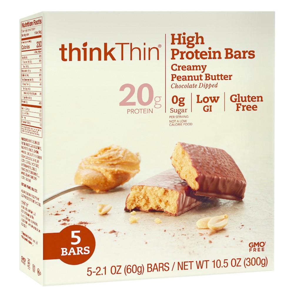 thinkthin Creamy Peanut Butter Protein Bars 5ct / 10.5oz