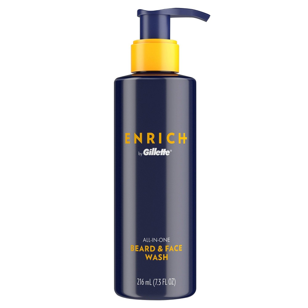 Image of Gillette Enrich Men's All-In-One Beard & Face Wash - 7.3oz