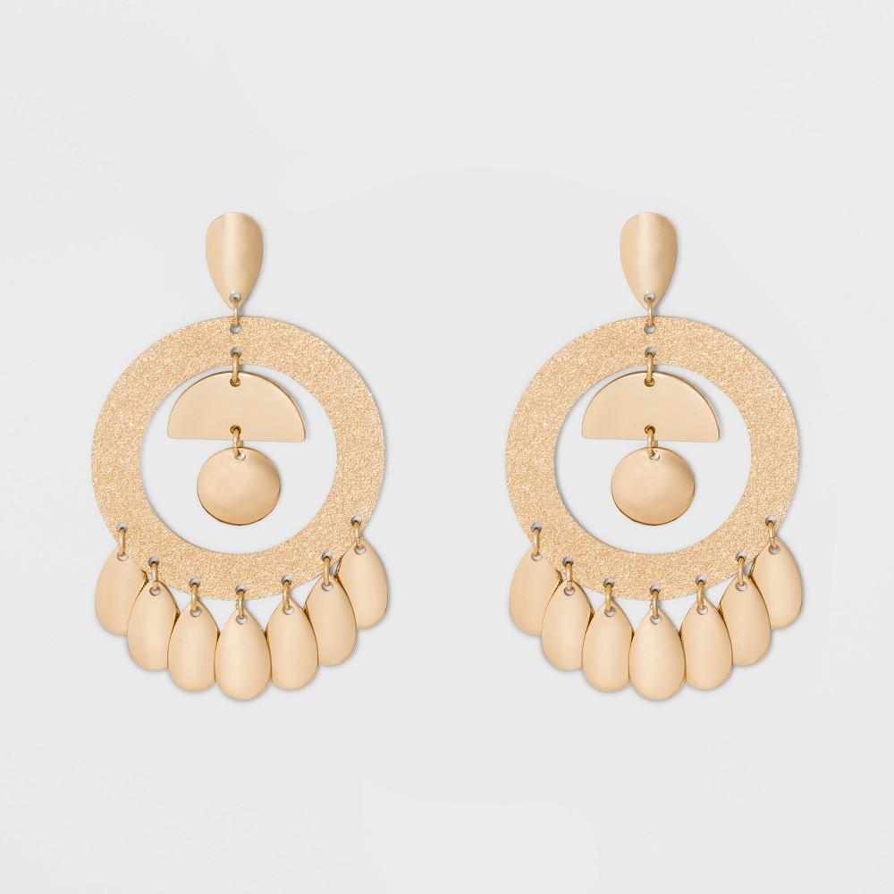 Image of 7 Dangling Drops Chandelier Earrings - A New Day Gold