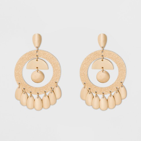 7 Dangling Drops Chandelier Earrings - A New Day™ Gold - image 1 of 3
