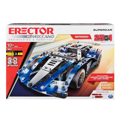 Erector by Meccano - SuperCar 25-in-1 STEM Building Kit
