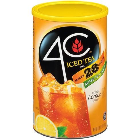 4C Natural Lemon Iced Tea Mix - 66.1oz - image 1 of 3