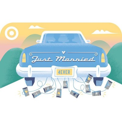 Just Married Car Target Giftcard
