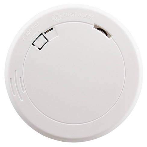 First Alert Pr710 10 Year Battery Powered Slim Smoke Detector With Photoelectric Sensor Target