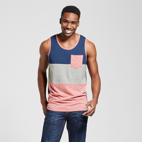 Men's Vented Hem Tank with Pocket - Mossimo Supply Co.™ Red Heather M - image 1 of 2