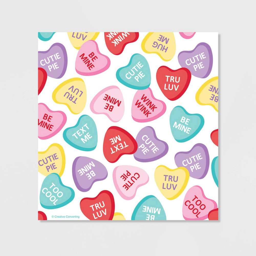 40ct Candy Hearts Valentine 39 S Day Favor Bags With Zipper