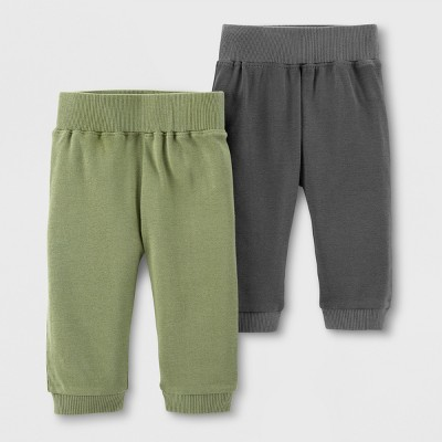 Little Planet Organic by carter's Baby Boys' 2pk Jogger Pants - Green/Gray Newborn