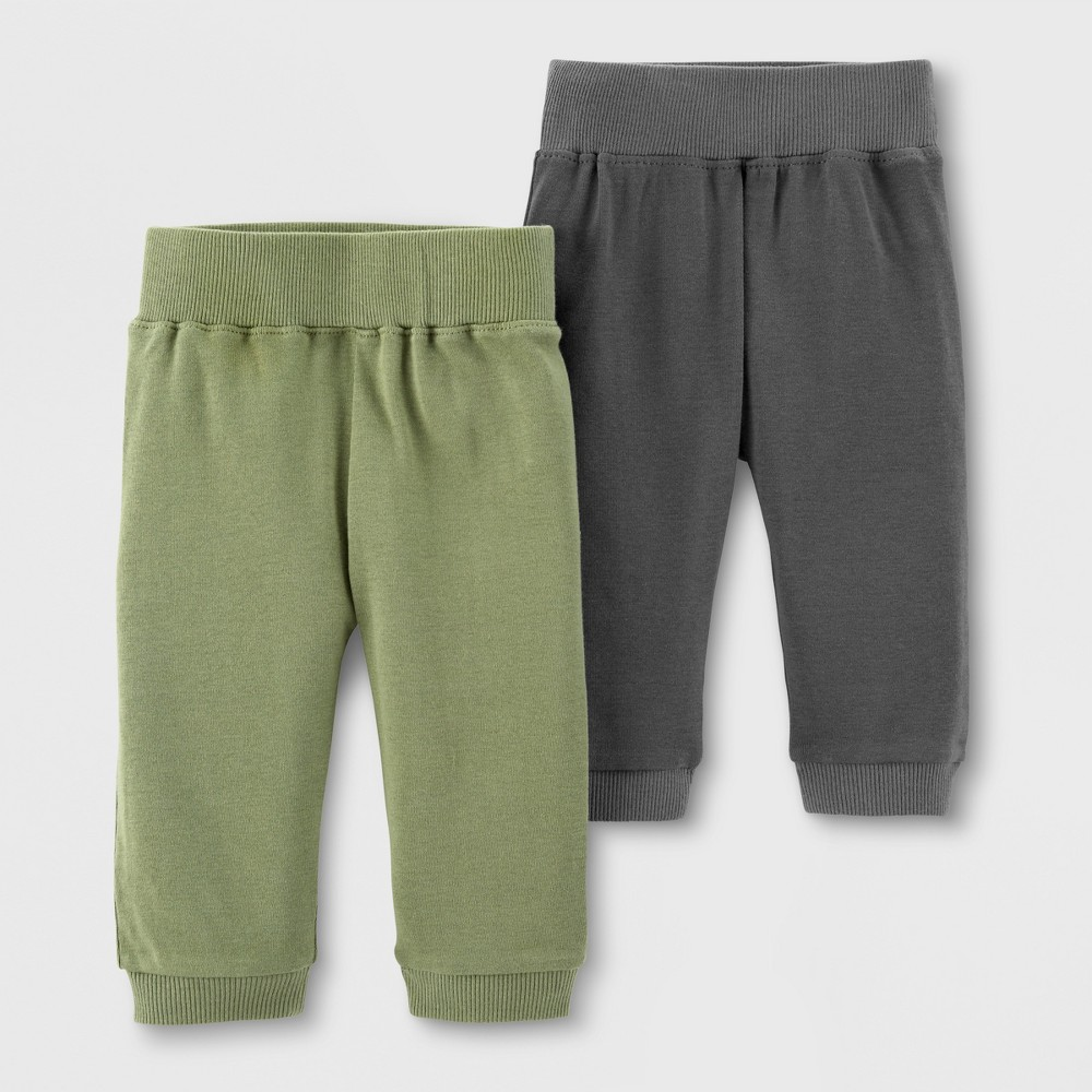 Little Planet Organic by carter's Baby Boys' 2pk Jogger Pants - Green/Gray 6M