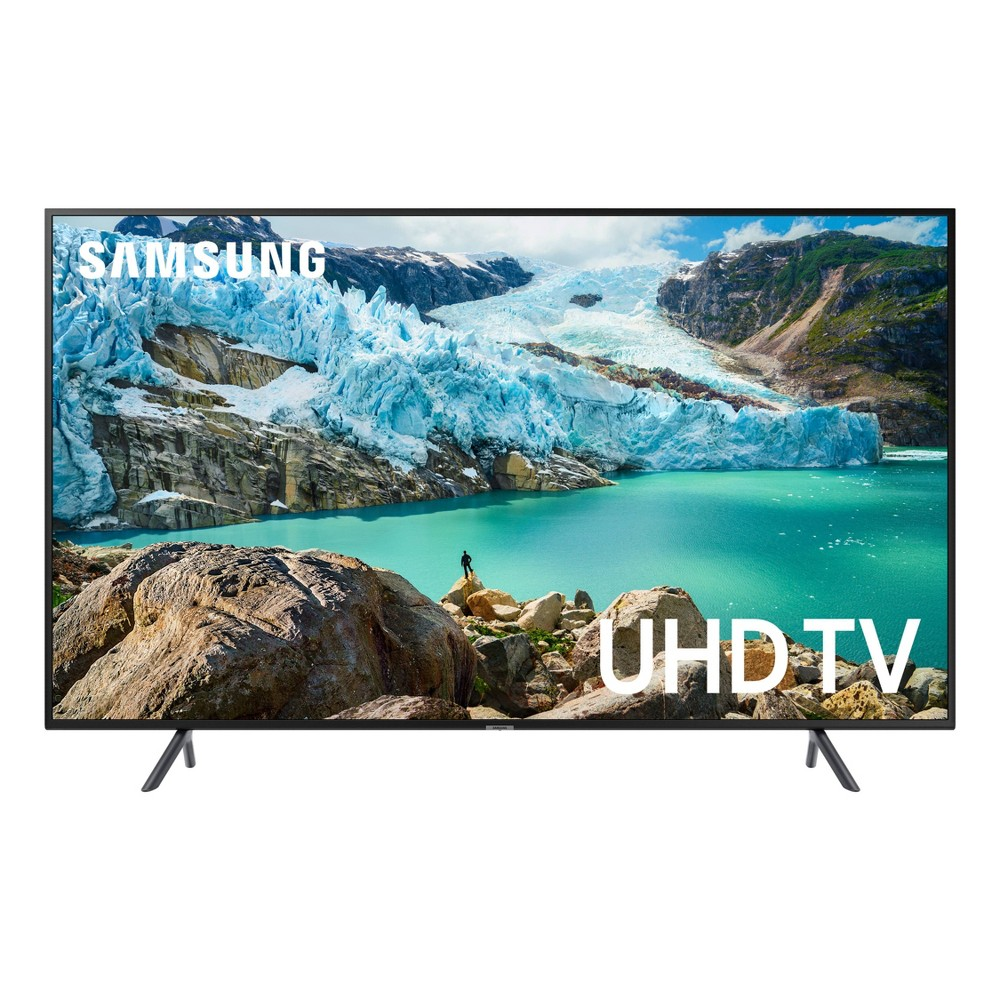 Samsung 65 Smart 4K Uhd TV - Charcoal Black (UN65RU7100FXZA) See all your favorite entertainment as it was meant to be seen. Enter the world of 4K, where every show, season, and scene is upscaled with enhanced picture clarity. Plus, a smart guide lets you quickly find what you want to watch.