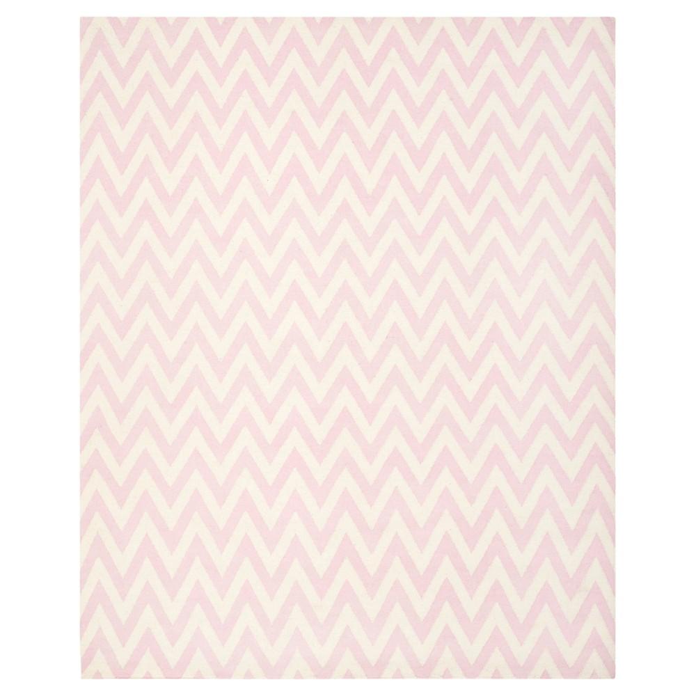 Zig Zag Area Rug Pink/Ivory